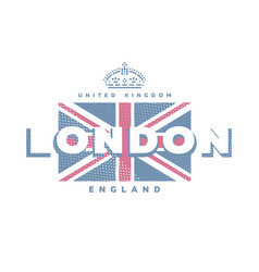 london united kingdom t-shirt printing design vector image