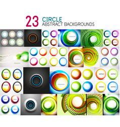 Mega collection of circle geometric vector