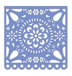 Mexican papel picado cutout design fiesta vector