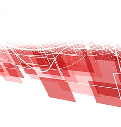 Modern red geometric background vector