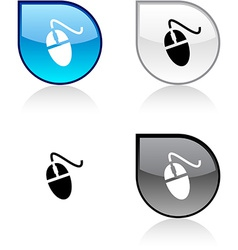 Mouse button vector image