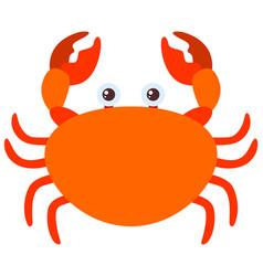 Orange crab on white background vector