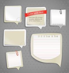 Paper text bubbles clip-art vector