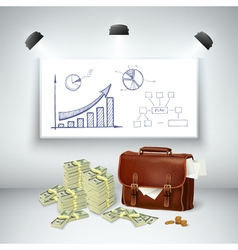 Realistic business financial template vector