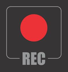 record symbol vector image