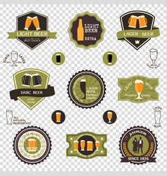 retro set of beer emblems - iconslabels posters vector image