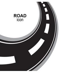 Road way or highway perspective icon pictogram vector