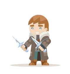 rogue outlaw assassin thief burglar fantasy vector image