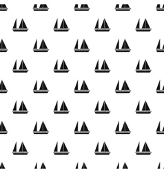 Sailing boat pattern simple style vector
