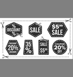 sale banners set edge silhouettes vector image
