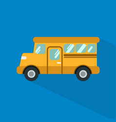 school bus icon set of great flat icons with vector image