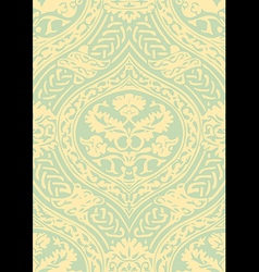 seamless floral antique pattern light vector image