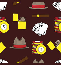 seamless pattern with playing cards vector image
