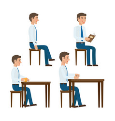 seating office worker templates set vector image