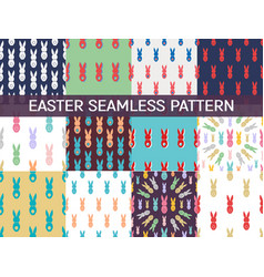 Set 12 seamless pattern easter greeting vector