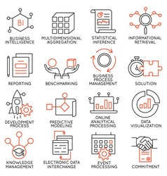 Set of icons related to business management - 25 vector