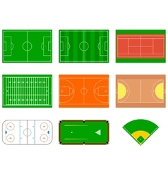 Sport fields Can be used for demonstration vector image