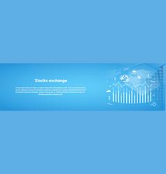 stock exchange concept business horizontal web vector image
