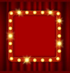 suspended glowing cinema billboard vector image