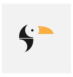 Toucan bird modern flat logo design vector