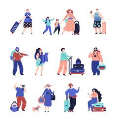 travel people travellers couple seniors tourist vector image