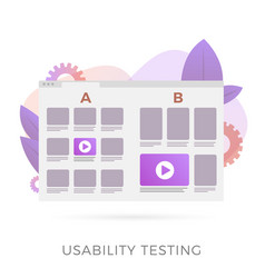 Usability testing with prototype 2 different ui vector