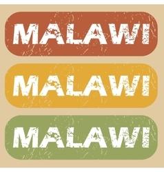 Vintage Malawi stamp set vector