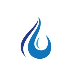 Water logo Template vector image