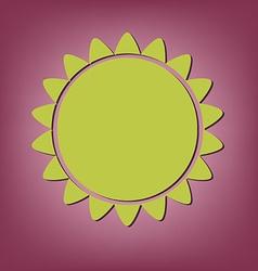 weather icon sun vector image