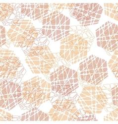 Abstract mosaic hexagon texture vector image