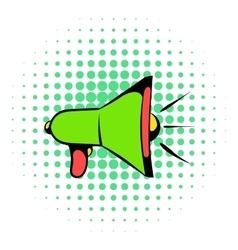 Megaphone icon comics style vector image