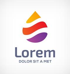 Water drop symbol logo design template icon vector image vector image