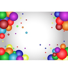 abstract Atom frame background vector image vector image
