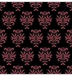 Black and pink damask stylized seamless pattern vector image