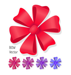 bow set luxury flower made from ribbons vector image