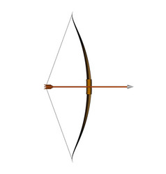 brown bow and arrow vector image