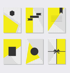 cute and trendy assorted yellow gray and white vector image vector image