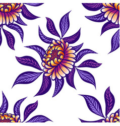 floral hand drawn vintage seamless pattern with vector image vector image