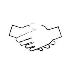 Huma hand shake cooperation support vector