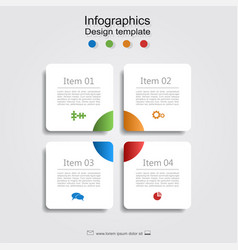 Infographic report template with place for data vector