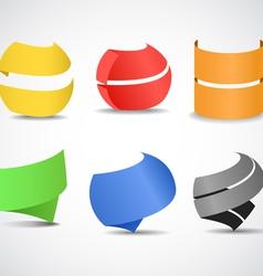 Paper ribbons set vector image vector image