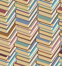 Stack of books seamless pattern background vector image