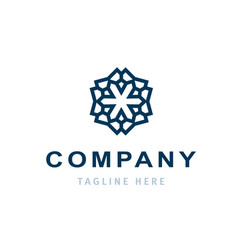 creative company logo design business template vector image vector image