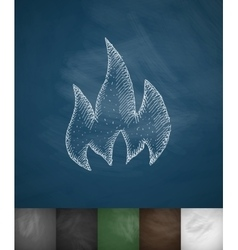 fire icon Hand drawn vector image vector image