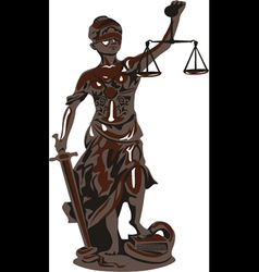 goddess of justice vector image