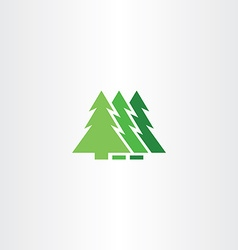 green christmas tree icon symbol sign element vector image