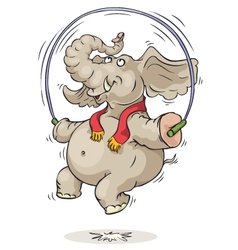 jumping elephant vector image