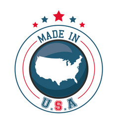 made in usa map badge image vector image