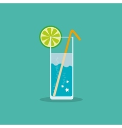 Refreshing non-alcoholic or alcoholic drink with a vector image vector image