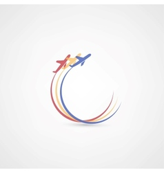 airplane symbols vector image